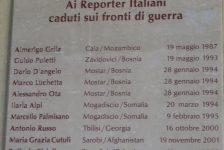 Il 25 aprile pensiamo anche ai reporter italiani caduti per la libertà