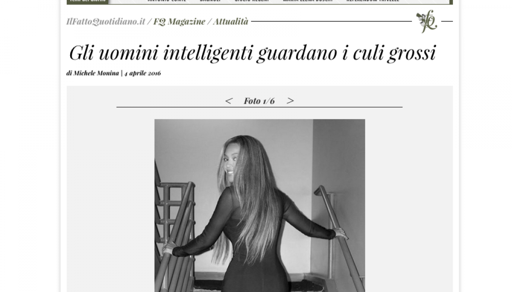 (DA BUTTARE) Gli uomini intelligenti guardano i culi grossi