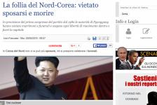 (NOTIZIE DA BUTTARE) La follia del Nord-Corea: vietato sposarsi e morire