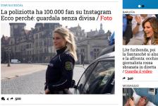(NOTIZIE DA BUTTARE)  La poliziotta ha 100.000 fan su Instagram Ecco perché: guardala senza divisa / Foto