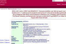 L'Università di Venezia assume un giornalista…