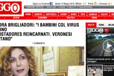 """(NOTIZIE DA BUTTARE) Eleonora Brigliadori: """"I bambini col virus zika sono conquistadores reincarnati. Veronesi ciarlatano"""""""