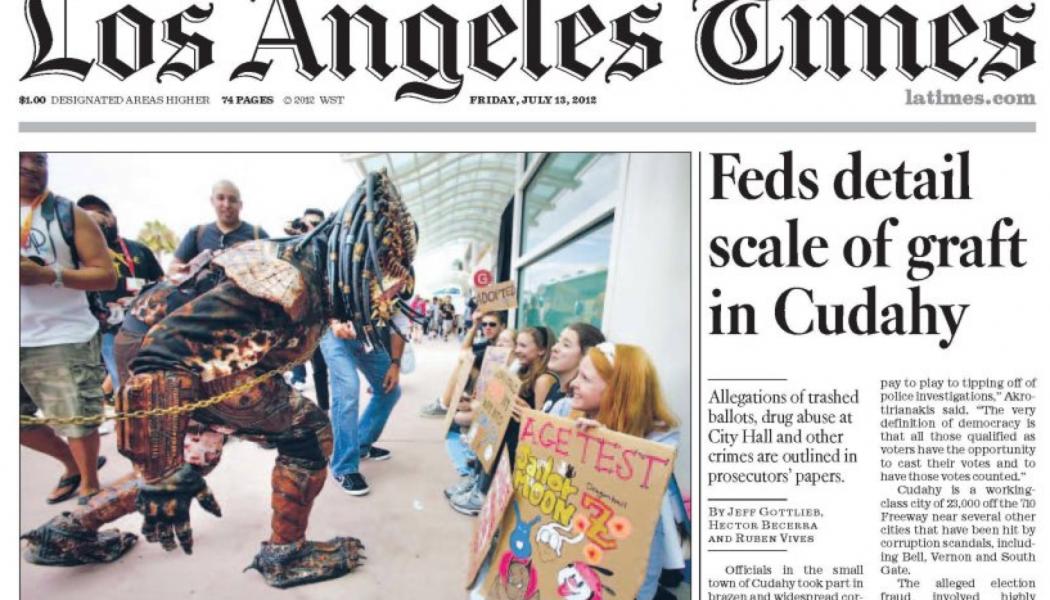 Los Angeles Times, no all'offerta da 864 milioni di Usa Today