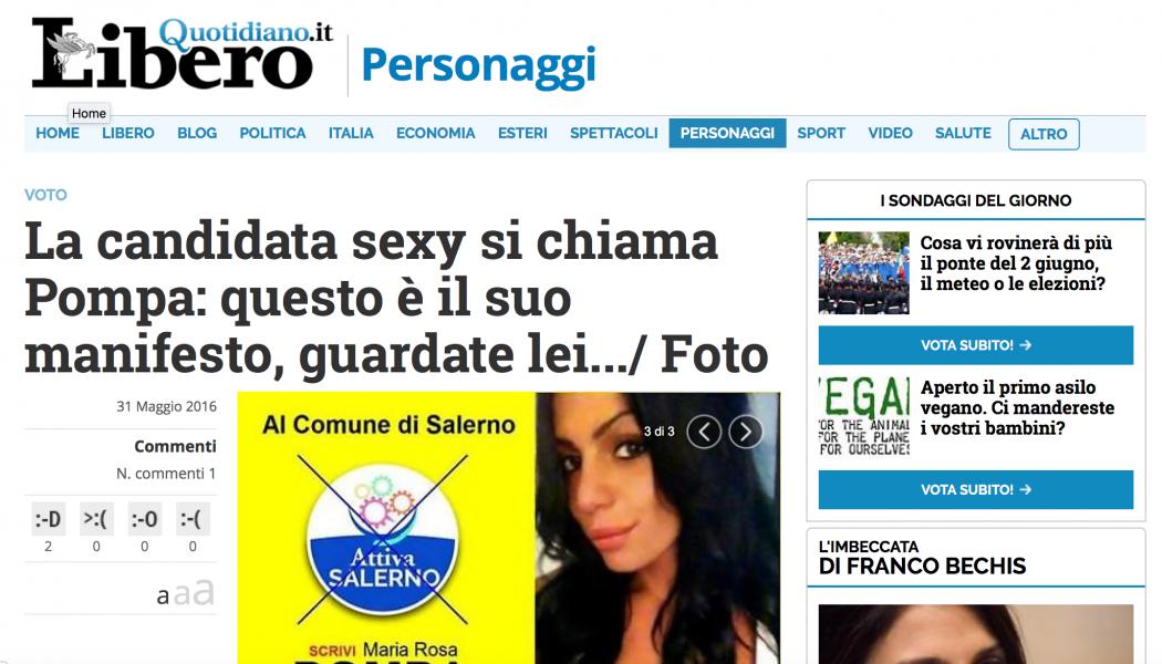 (NOTIZIE DA BUTTARE) La candidata sexy si chiama Pompa: questo è il suo manifesto, guardate lei…/ Foto