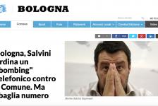 """(NOTIZIE TROPPO VERE) Bologna, Salvini ordina un """"bombing"""" telefonico contro il Comune. Ma sbaglia numero"""