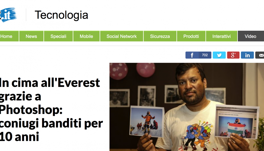 (NOTIZIE TROPPO VERE) In cima all'Everest grazie a Photoshop: coniugi banditi per 10 anni