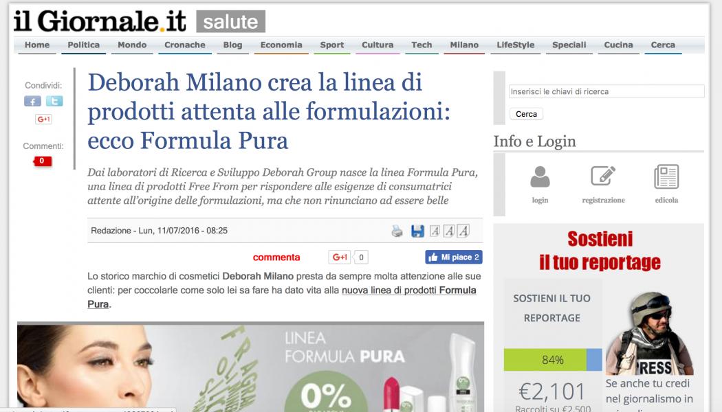 (MARKETTE) Deborah Milano crea la linea di prodotti attenta alle formulazioni: ecco Formula Pura