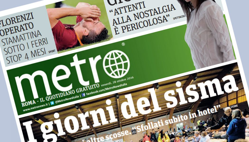 Metro: l'editore annuncia chiusure e tagli, i giornalisti affidano al Cdr 10 giorni di sciopero